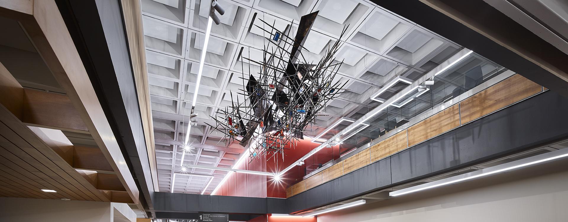 Coronet lighting in Posvar Hall, University of Pittsburgh